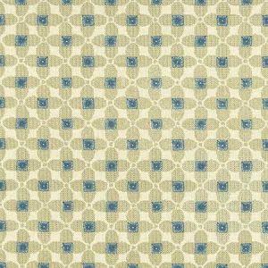 F1016/03 LAVERNE Denim Natural Clarke & Clarke Fabric