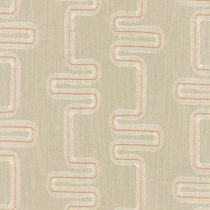 F1017/05 MIKKEL Spice Natural Clarke & Clarke Fabric