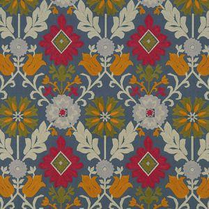F1022/02 AUGUSTINA Denim Rouge Clarke & Clarke Fabric