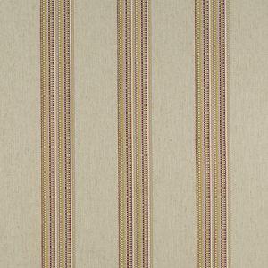 F1023/06 BOHO STRIPE Raspberry Apple Clarke & Clarke Fabric
