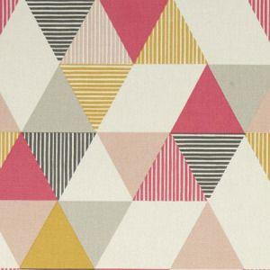 F1035/01 BRIO Coral Clarke & Clarke Fabric