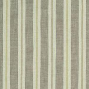 F1046/01 SACKVILLE STRIPE Citron Natural Clarke & Clarke Fabric