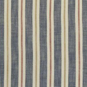 F1046/04 SACKVILLE STRIPE Midnight Spice Clarke & Clarke Fabric