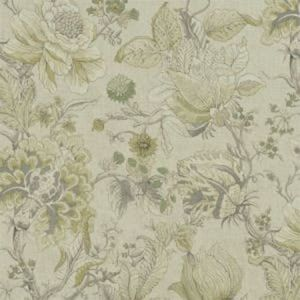 F1048/02 SISSINGHURST Citron Natural Clarke & Clarke Fabric