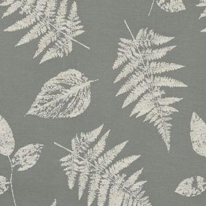 F1059/04 FOLIAGE Pewter Clarke & Clarke Fabric