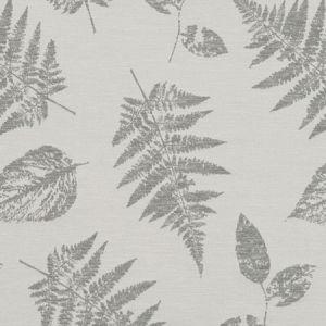 F1059/06 FOLIAGE Silver Clarke & Clarke Fabric