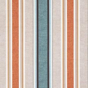 F1065/06 LUELLA Teal Spice Clarke & Clarke Fabric