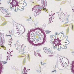 F1066/02 OCTAVIA Damson Clarke & Clarke Fabric