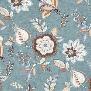 F1066/06 OCTAVIA Teal Spice Clarke & Clarke Fabric