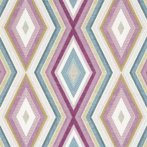 F1067/02 TERRAZZO Damson Clarke & Clarke Fabric