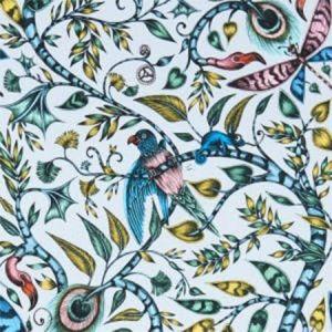 F1113/02 ROUSSEAU Eggshell Clarke & Clarke Fabric