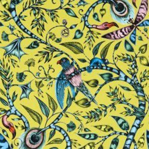 F1113/04 ROUSSEAU Lime Clarke & Clarke Fabric
