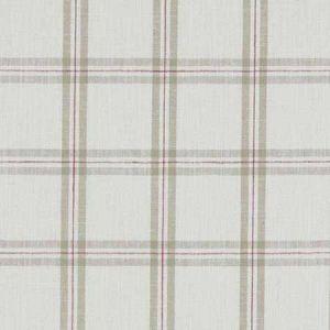 F1124/06 KELMSCOTT Raspberry Linen Clarke & Clarke Fabric