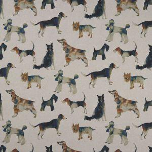 F1176/01 WALKIES Linen Clarke & Clarke Fabric