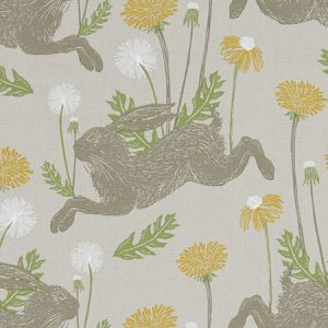 F1190/01 MARCH HARE Linen Clarke & Clarke Fabric