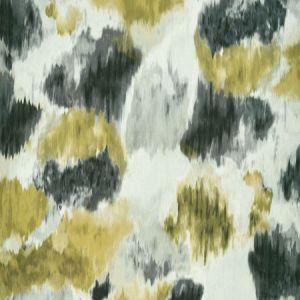 F1202/02 CIRRO Charcoal Chartreuse Clarke & Clarke Fabric