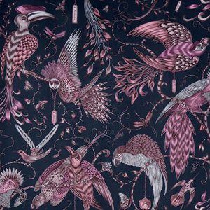 F1207/01 AUDUBON VELVET Pink Clarke & Clarke Fabric