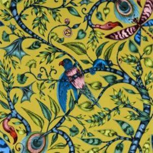 F1212/01 ROUSSEAU VELVET Lime Clarke & Clarke Fabric