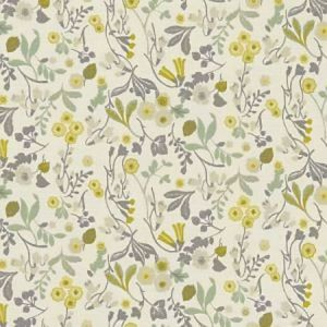 F1312/03 ASHBEE Forest Chartreuse Clarke & Clarke Fabric