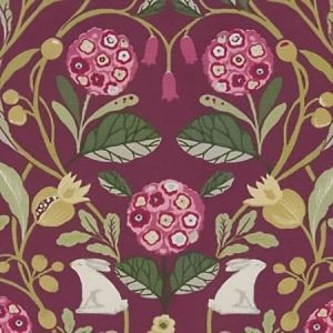 F1314/04 FORESTER Plum Clarke & Clarke Fabric