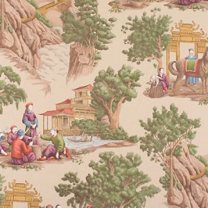 FB 0002MA29 MANDARIN TOILE Document Old World Weavers Fabric