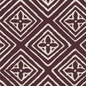 2490-10WP FIORENTINA Prune On Tint Quadrille Wallpaper