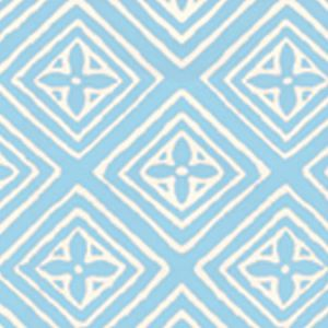 2490-20WP FIORENTINA Bali Blue On Off White Quadrille Wallpaper