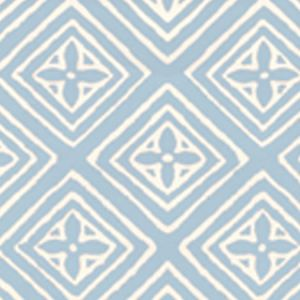 2490-21WP FIORENTINA Swedish Blue On Off White Quadrille Wallpaper