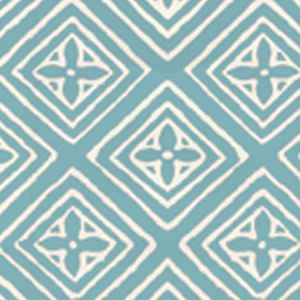 2490-44WP FIORENTINA Turquoise On Almost White Quadrille Wallpaper