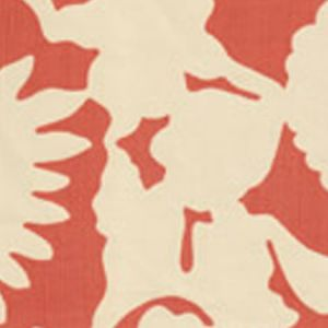 7010-03 FLORA BACKGROUND Shrimp on Tint Quadrille Fabric