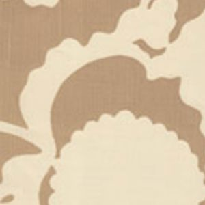 7010-01 FLORA BACKGROUND Taupe on Tint Quadrille Fabric