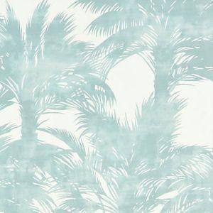 GW 0002 16610 PALM PRINT Surf Scalamandre Fabric