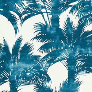 GW 0004 16610 PALM PRINT Turquoise Scalamandre Fabric