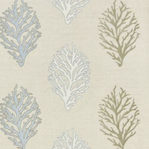 GW 0004 27204 CORAL REEF EMBROIDERY Sand Scalamandre Fabric