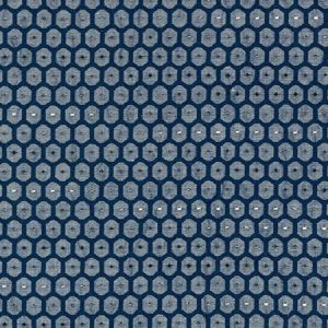 GW 0006 27209 HONEYCOMB WEAVE Navy Scalamandre Fabric
