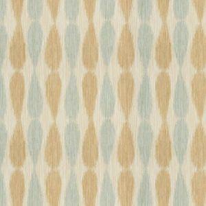 GWF-2927-13 IKAT DROPS Aqua Groundworks Fabric