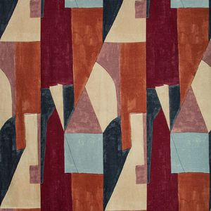 GWF-3752-795 DISTRICT Claret Groundworks Fabric