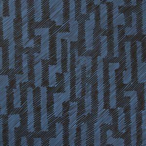 GWP-3702-58 VERGE PAPER Ebony Cobalt Groundworks Wallpaper