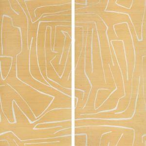 GRAFFITO II Golden Rod Groundworks Wallpaper