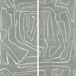 GRAFFITO II Denim Groundworks Wallpaper