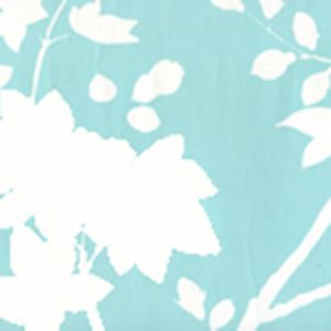 306182W HAPPY GARDEN BACKGROUND Turquoise On White Quadrille Wallpaper