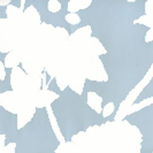 306180W HAPPY GARDEN BACKGROUND Windsor Blue On White Quadrille Wallpaper