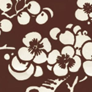 3015-31AWP HAWTHORNE REVERSE Brown On Almost White Quadrille Wallpaper