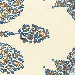 HC1490W-04WP PERSEPOLIS Brown Navy On Off White Quadrille Wallpaper