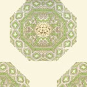 HC1700W-02WP MEDALLION Fig Taupe On Cream Quadrille Wallpaper