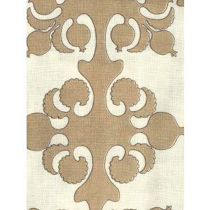HC2000C-02 ARGENTINE Camel Brown on Cream Quadrille Fabric