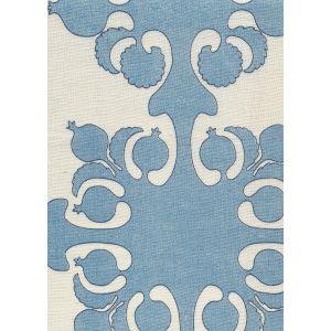 HC2000C-06 ARGENTINE Denim Blues on Cream Quadrille Fabric