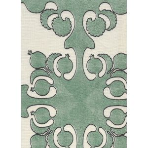 HC2000C-05 ARGENTINE Green Charcoal on Cream Quadrille Fabric