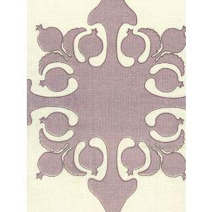 HC2000C-07 ARGENTINE Lilac Brown on Cream  Quadrille Fabric