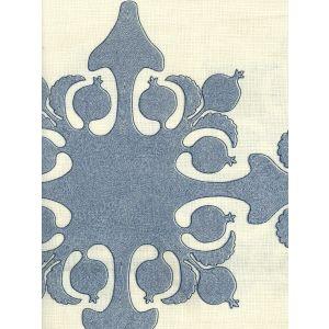 HC2000C-04 ARGENTINE Medium Blue Navy on Ecru Quadrille Fabric